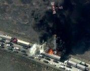 Los bomberos no pueden salvar personas en un incendio por culpa de un dron