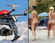 Nudistas denuncian que les graban desde un dron en Reino Unido