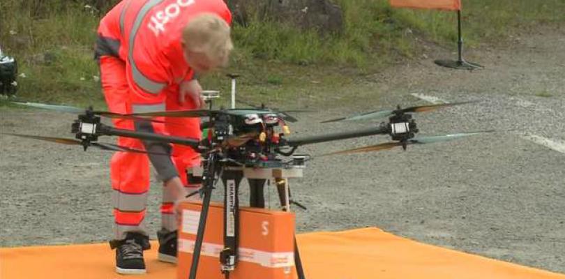 El sistema postal finlandés pone a prueba la entrega de paquetería por dron
