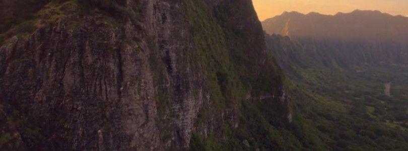 Increibles vistas de Hawai a vista de dron