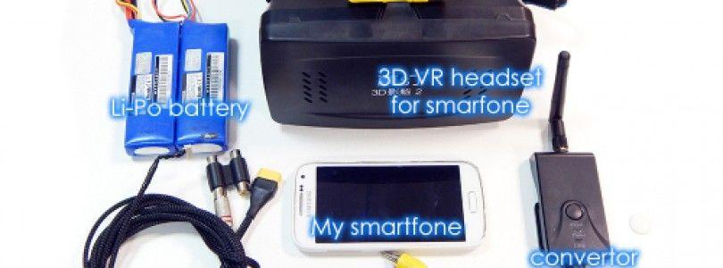 Muestran el BlackBird 2 en 3D usando un smartphone Android con un soporte de gafas 3D