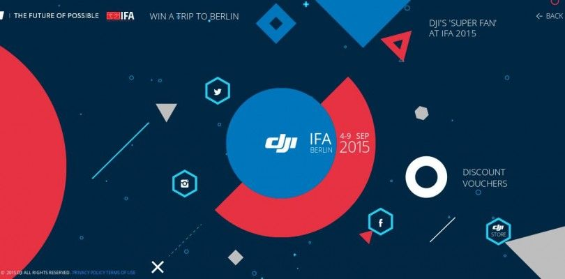 DJI sortea un viaje al Berlin para poder asistir al IFA 2015