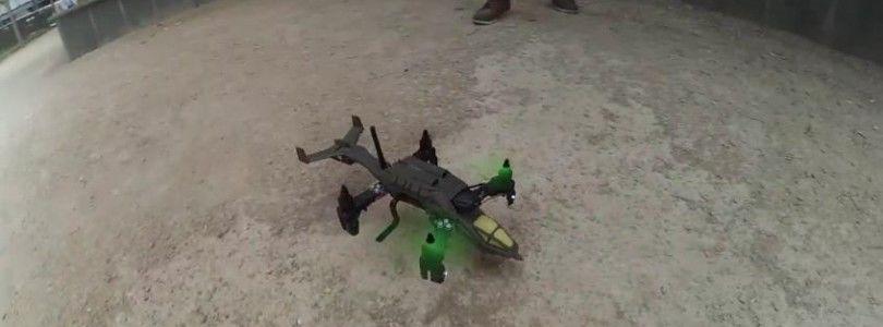 Volando un dron estilo Halo hecho con una impresora 3D