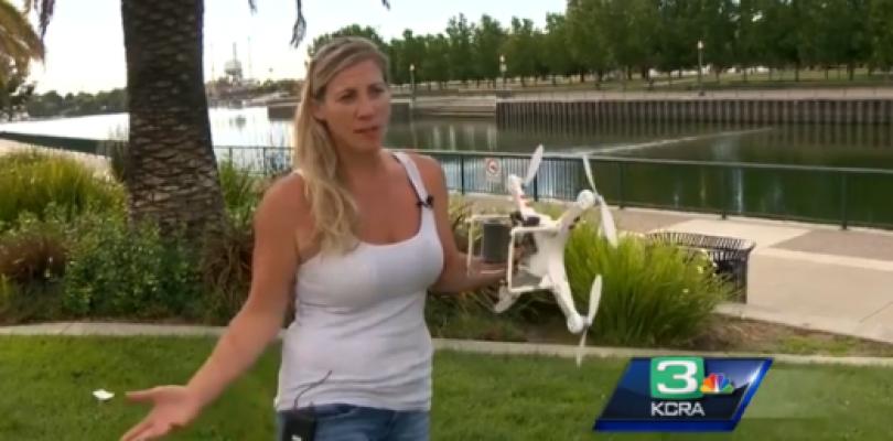 Encuentran un Phantom con la cámara acoplada sumergido en el lago Folsom