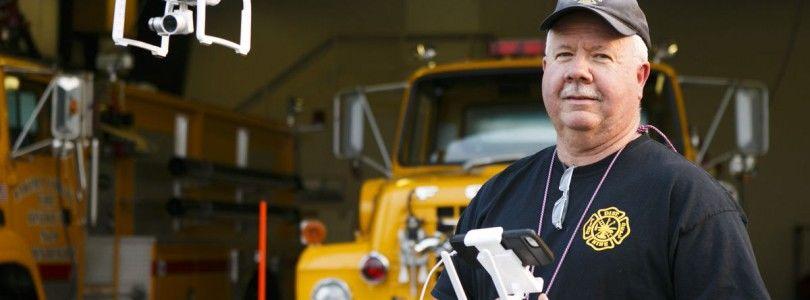 Los bomberos de Naches Heights consideran una interesante herramienta los drones después de sus pruebas