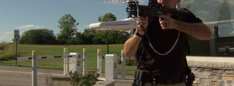 Rifle con Inhibidores de GPS usado para detener los drones